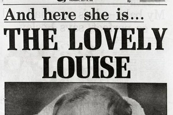 Newspaper with headline: